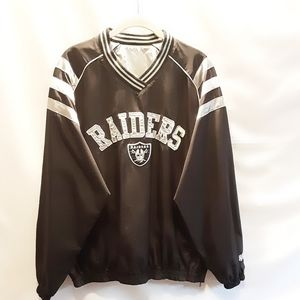NFL Raiders reversible pullover jacket